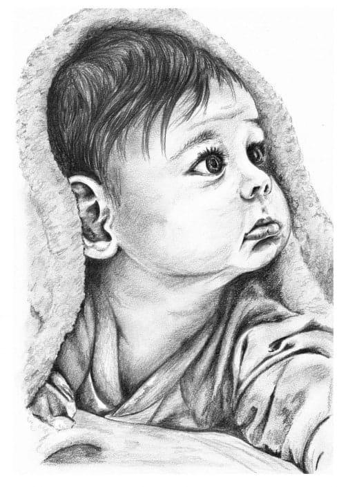 Pencil Portrait of Baby Boy