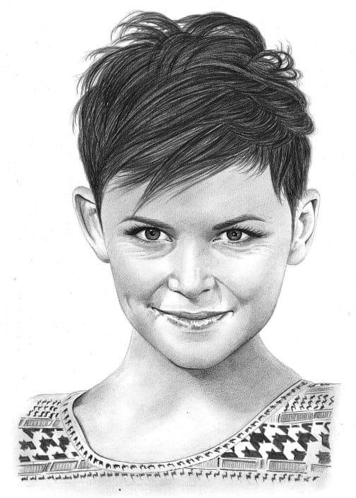 Pencil Portrait of Ginnifer Goodwin