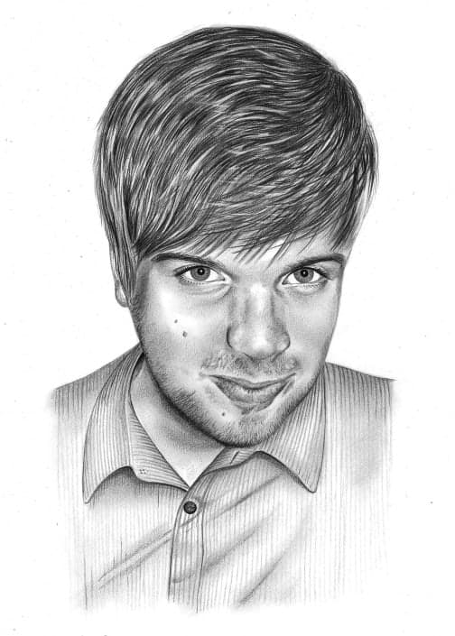 Pencil Portrait of Teenage Boy
