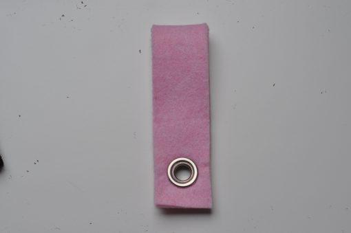 Vilten sleutelhanger Licht roze