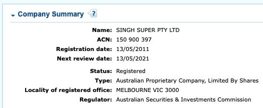 SMSF Account Company Name Stake