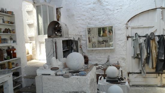 Interior of Barbara Hepworth's studio