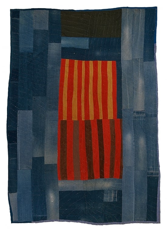 Annie Mae Young - Work Clothes Quilt With Center Medallion Of Strips - 1976