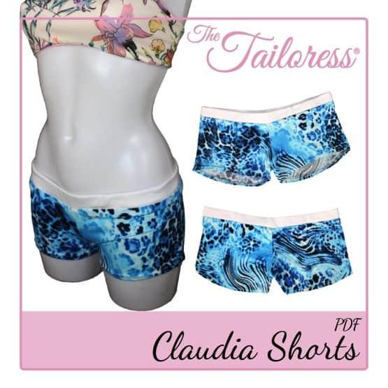 The Tailoress PDF Sewing Patterns - Claudia Bikini Swimsuit Hot Pants Boy Shorts PDF Sewing Pattern