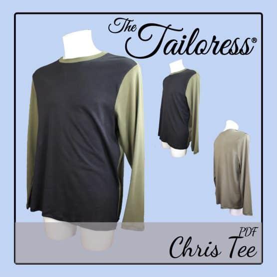 The Tailoress PDF Sewing Patterns - Chris Tee PDF Sewing Pattern for Men