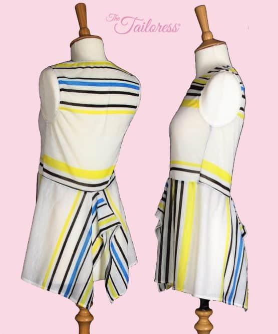 The Tailoress PDF Sewing Patterns - Isabel Handkerchief Top & Dress PDF Sewing Pattern - Adult size