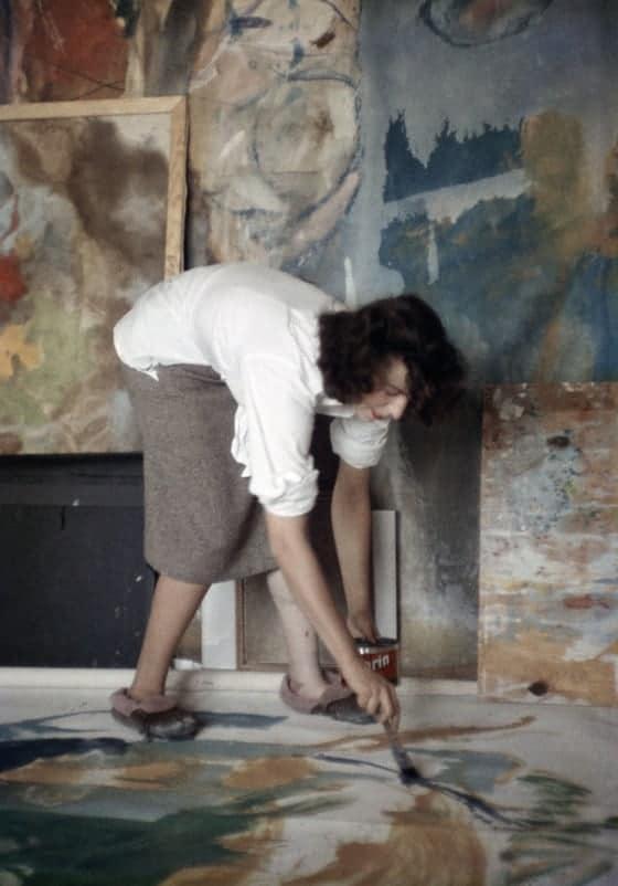 Abstract expressionist Helen Frankenthaler in her NYC studio