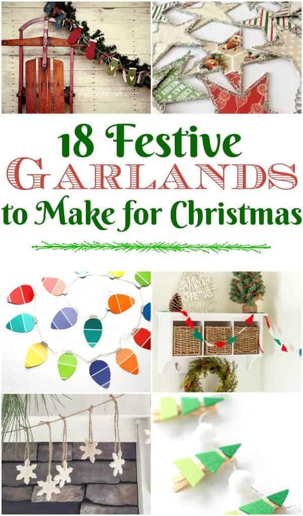 Diy Christmas Garland 18 Homemade Ideas Crafty Little Gnome