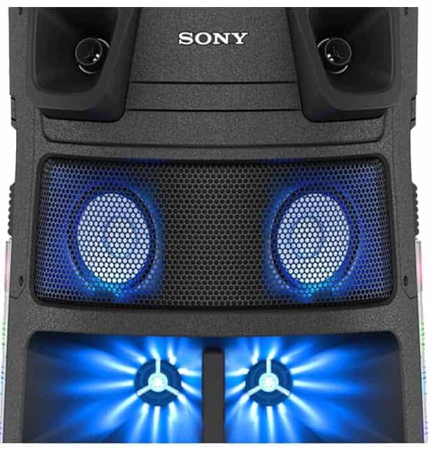 Controladores de frecuencia media en ángulo Sony MHC-V83D