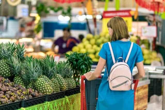 woman making extra money shopping