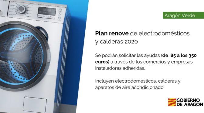 Subvenciones Plan Renove – Electrodomésticos, calderas Aragón 2020