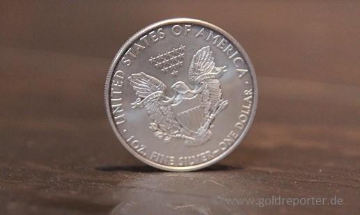 Silber, Silbermünze, American Eagle (Foto: Goldreporter)