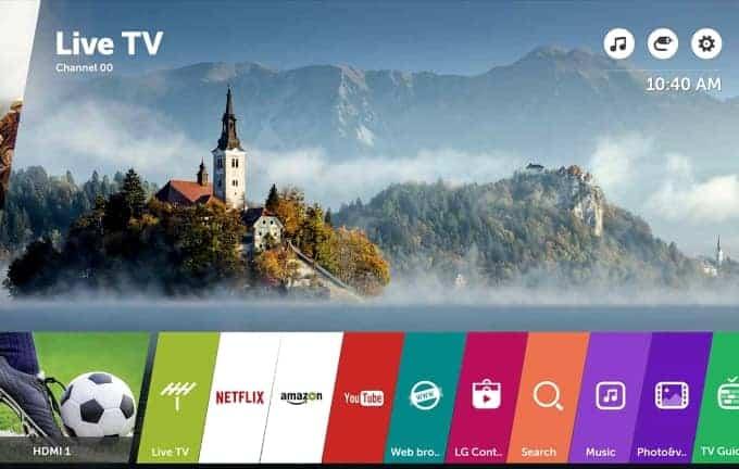 Smart TV WebOS 3.5 LG UJ701V
