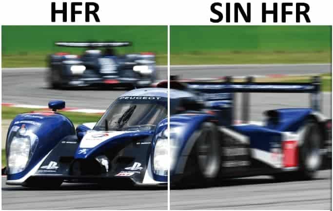 Que es HFR. Comparativa con y sin HFR