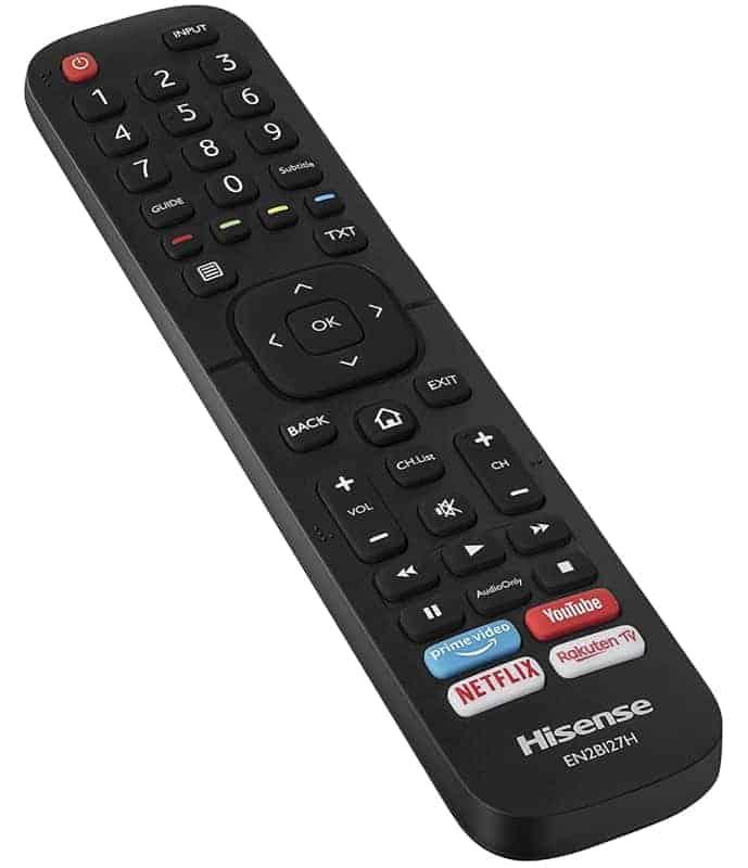 Mando a distancia Hisense AE7000F 4K TV 2020