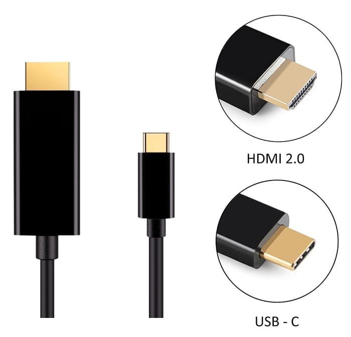 Conectar móvil a TV con cable MHL USB tipo C a HDMI