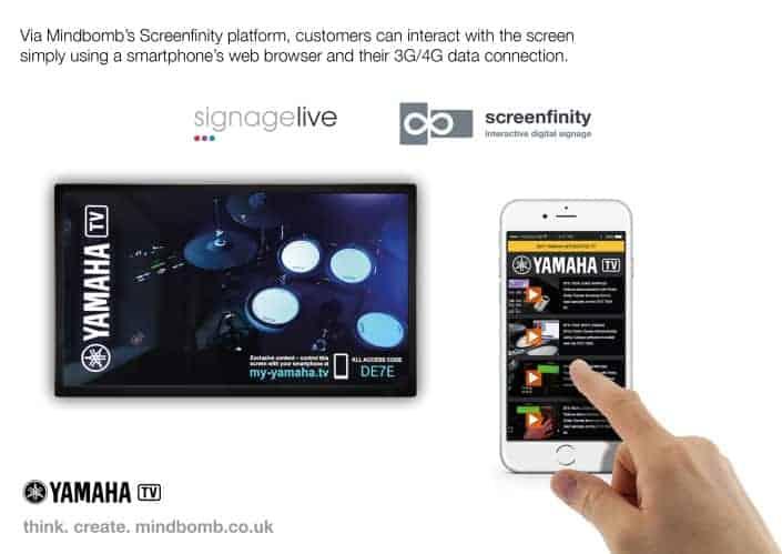 Mindbomb Screenfinity – Interactive Digital Signage