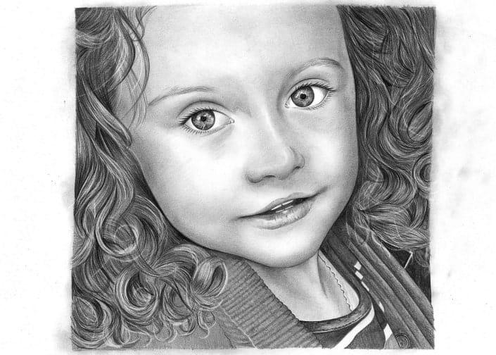 Pencil Drawing of Girl