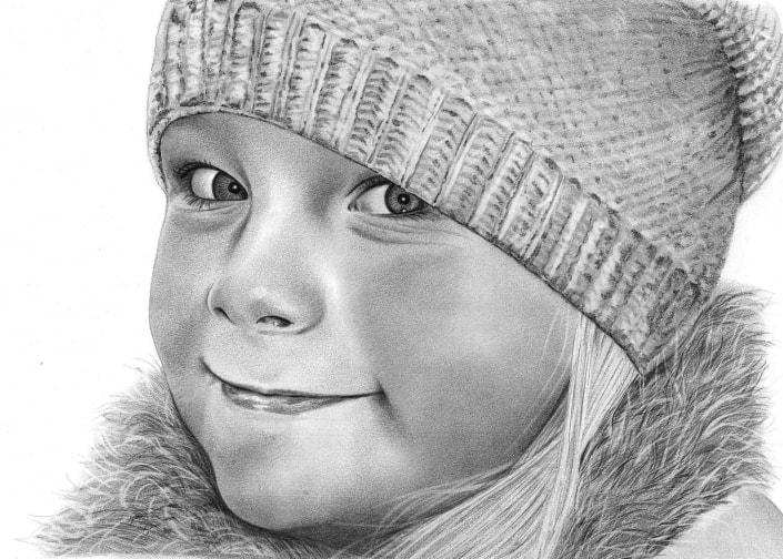 Pencil Portrait of Girl
