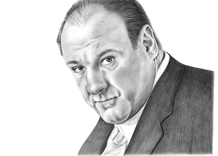 Pencil Portrait of James Gandolfini