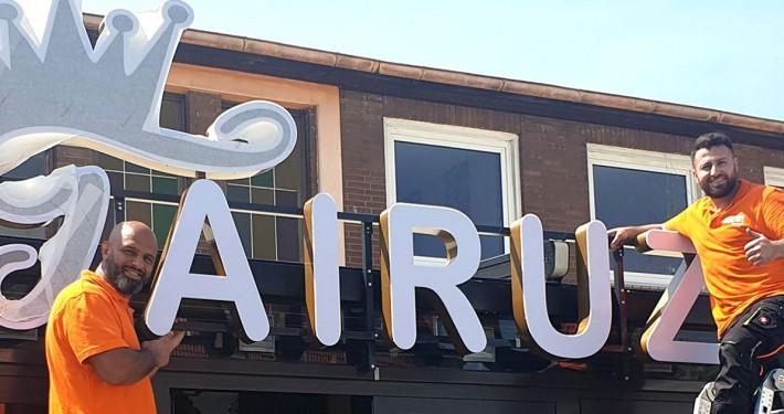 Fairuz 3D-Buchstaben Leuchtreklame Bremen