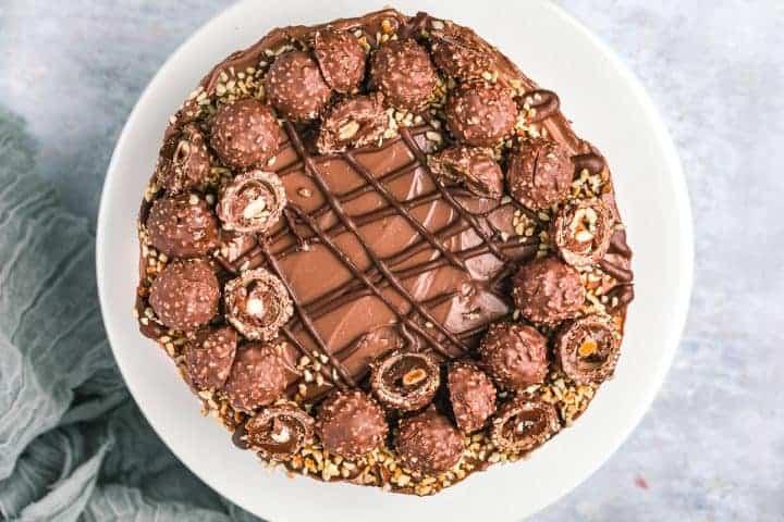 A Christmas dessert on a serving plate.