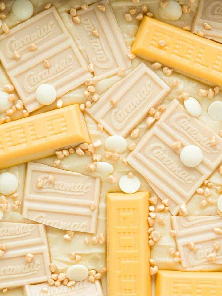 Blondes with gold bars and caramac