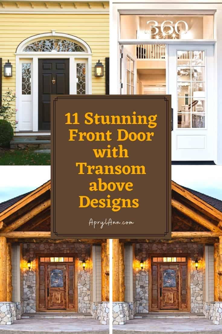 Phenomenal Front Door With Transom Window Above