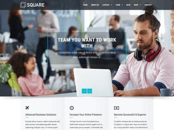 square free minimalist theme