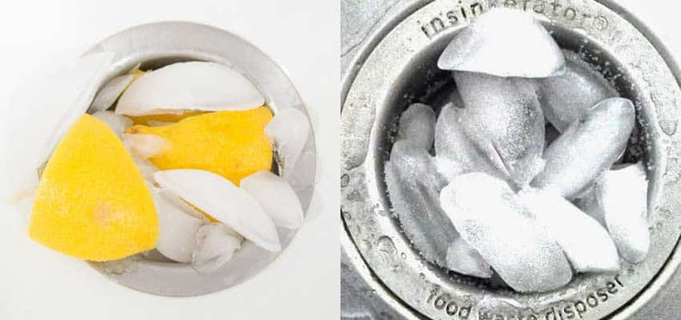 cleaning-garbage-disposal-with-ice-and-lemons