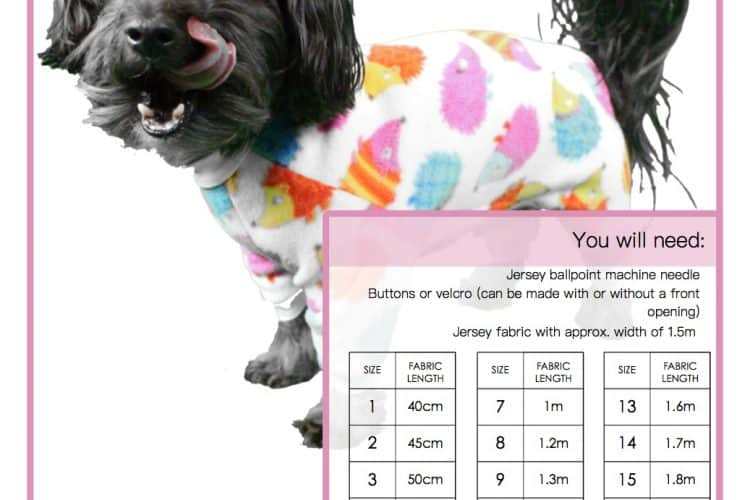 The Tailoress PDF Sewing Patterns - Bella Pyjamas for Dogs Tutorial