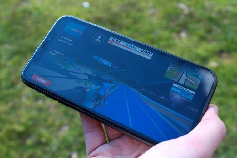 Zwift App auf dem Iphone