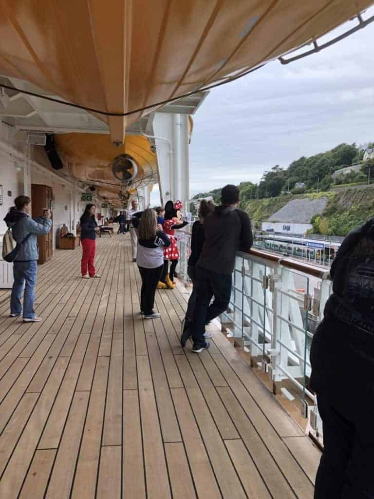 Leaving Cobh Ireland Disney Magic Transatlantic cruise