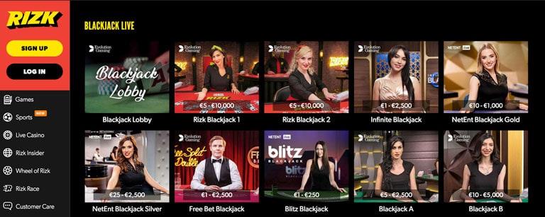 Live Casino hos Rizk.com
