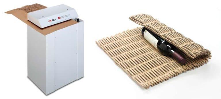 Cardboard shredder and shredded material