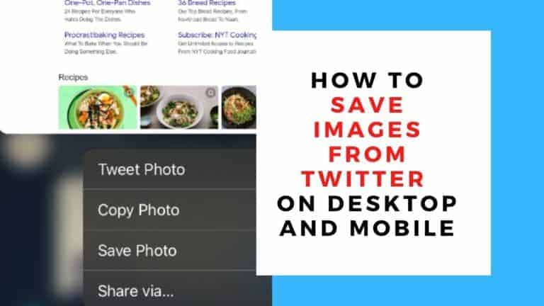 How to Save Images From Twitter on Desktop and Mobile