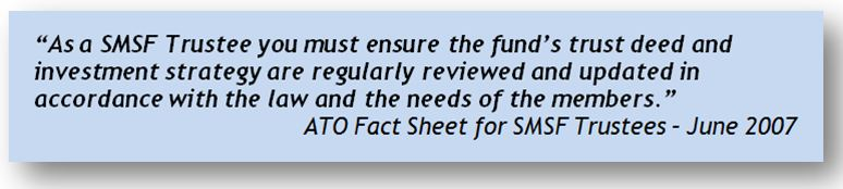When to update SMSF trust deed