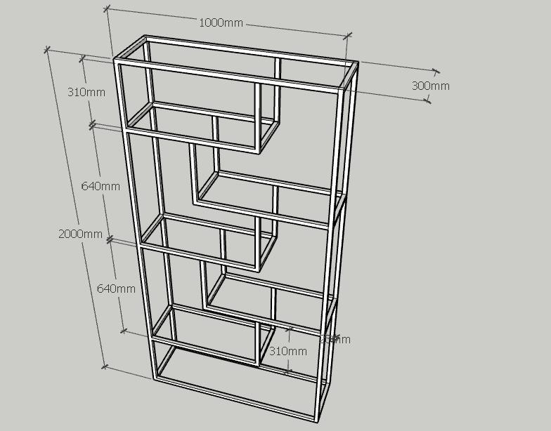 Hình ảnh thực tế kệ trang trí khung chân sắt mặt gỗ cao su GHZ-494
