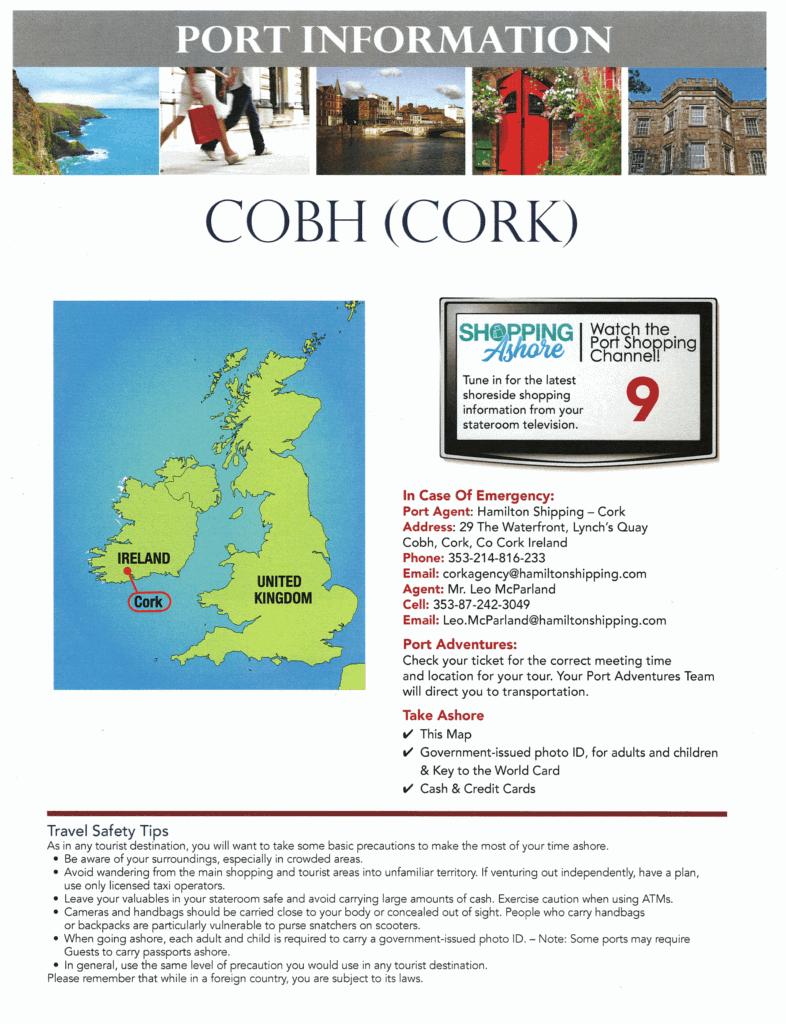 Port Information Cobh Ireland Disney Transatlantic Cruise