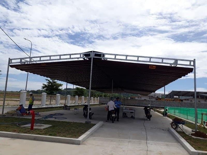 Mái che di động, mái xếp di động, mái bạt kéo xếp, Mái bạt lùa tại Đồng Nai