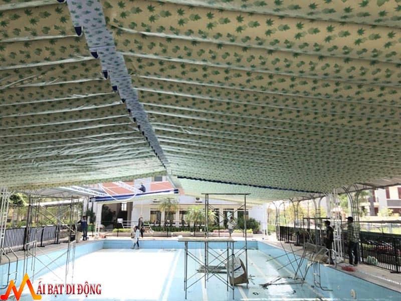 Lắp đặt mái che nắng bể bơi
