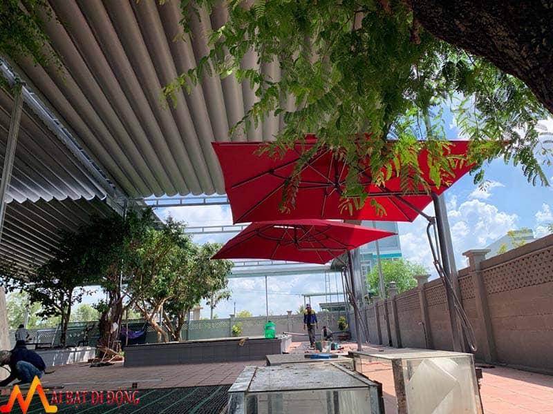 mái che nắng mưa cho quán cafe