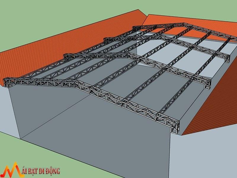 Khung kết cấu cho mái che trường học