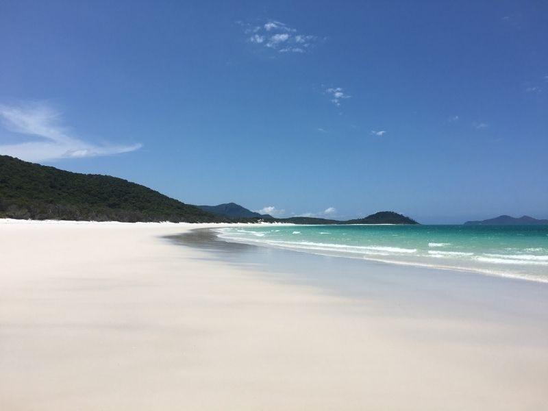 Whitehaven Beach on Whitsunday Island in Queensland, Australia