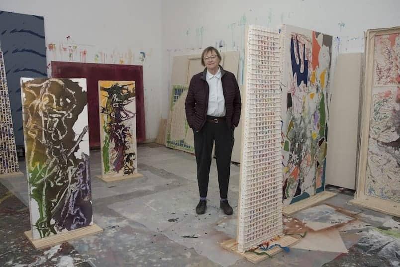 Dona Nelson in her studio