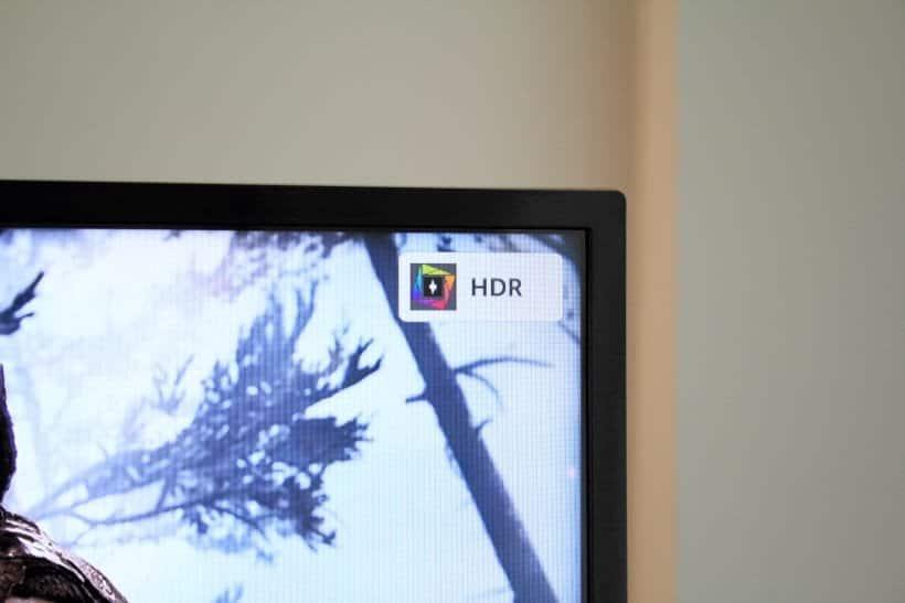 Logotipo HDR en TV LG LM6300