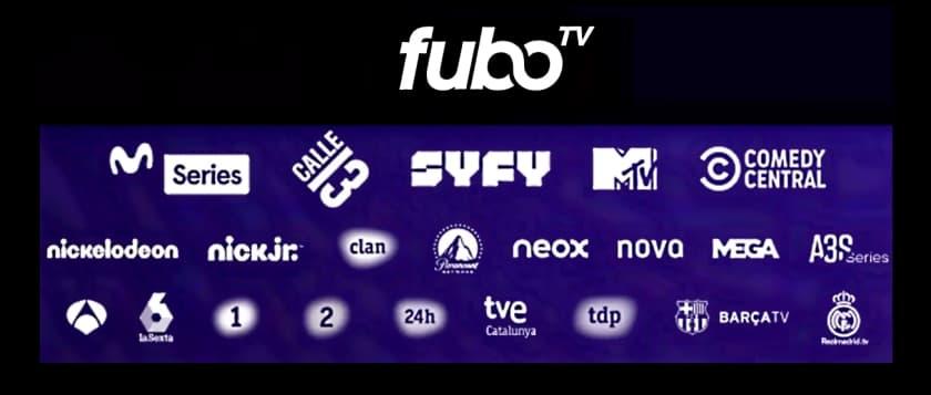 Canales disponibles en fuboTV