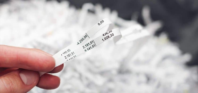 strip cut paper shredder readable