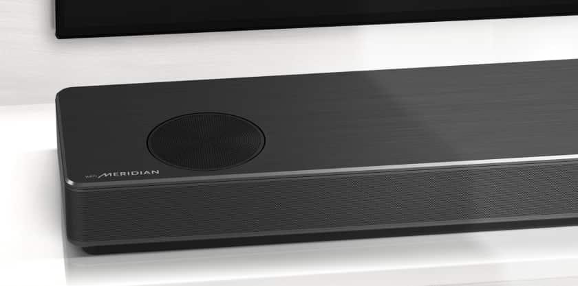 Gama de barras de sonido LG Meridian Audio 2020