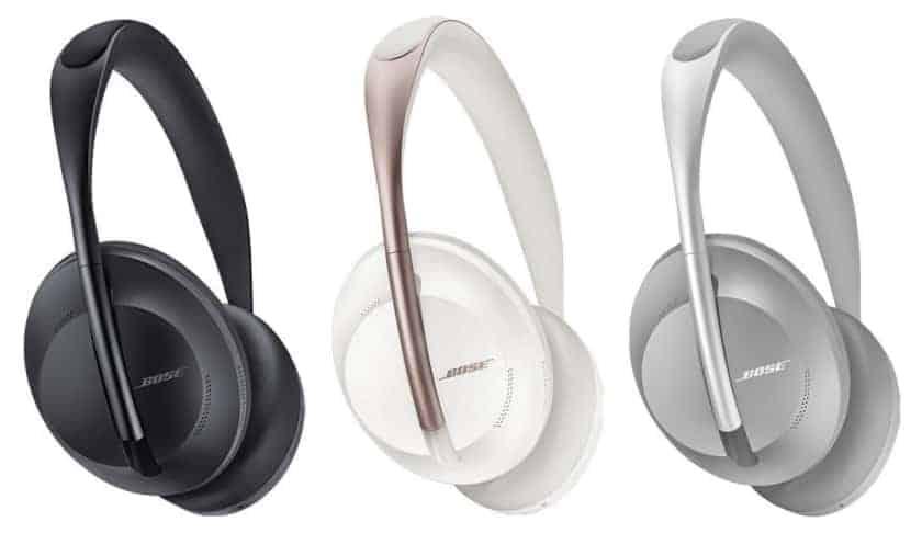Colores disponibles auriculares con ANC Bose 700